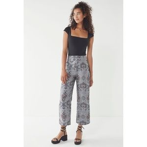 Urban Outfitters UO Juliet Cropped Jacquard Pant